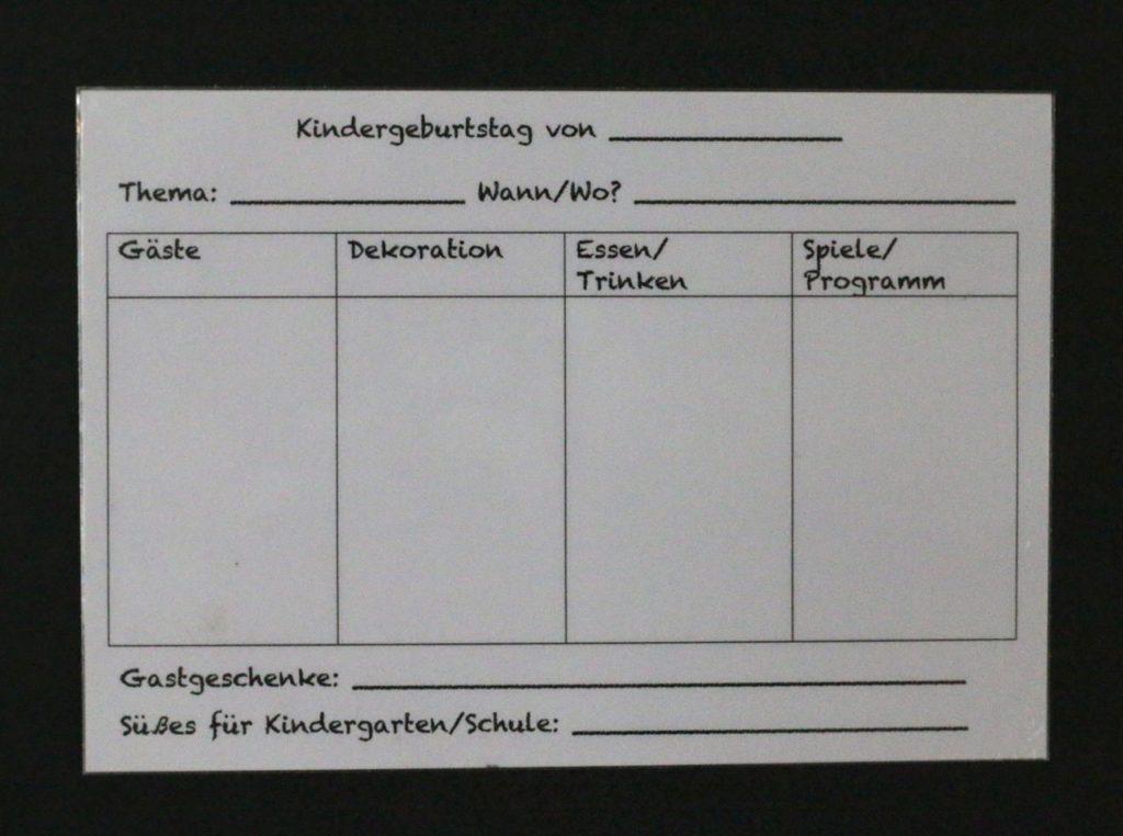 Planungskarten